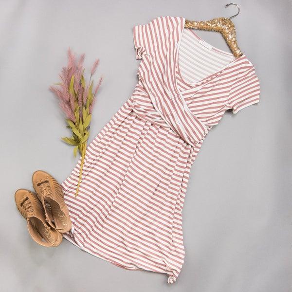 Mauve Cross-Over Dress