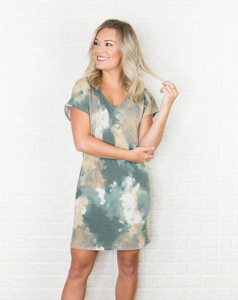 Olive Boyfriend Dress *all sales final*