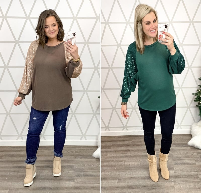 Sparkle All The Way Blouse *ALL SALES FINAL*