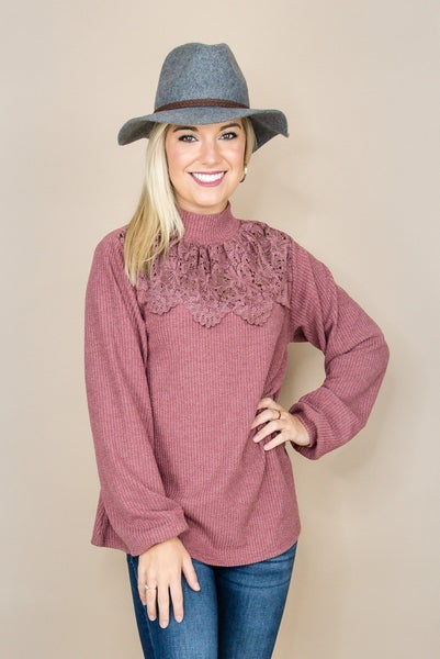 Mulberry Lace Sweater