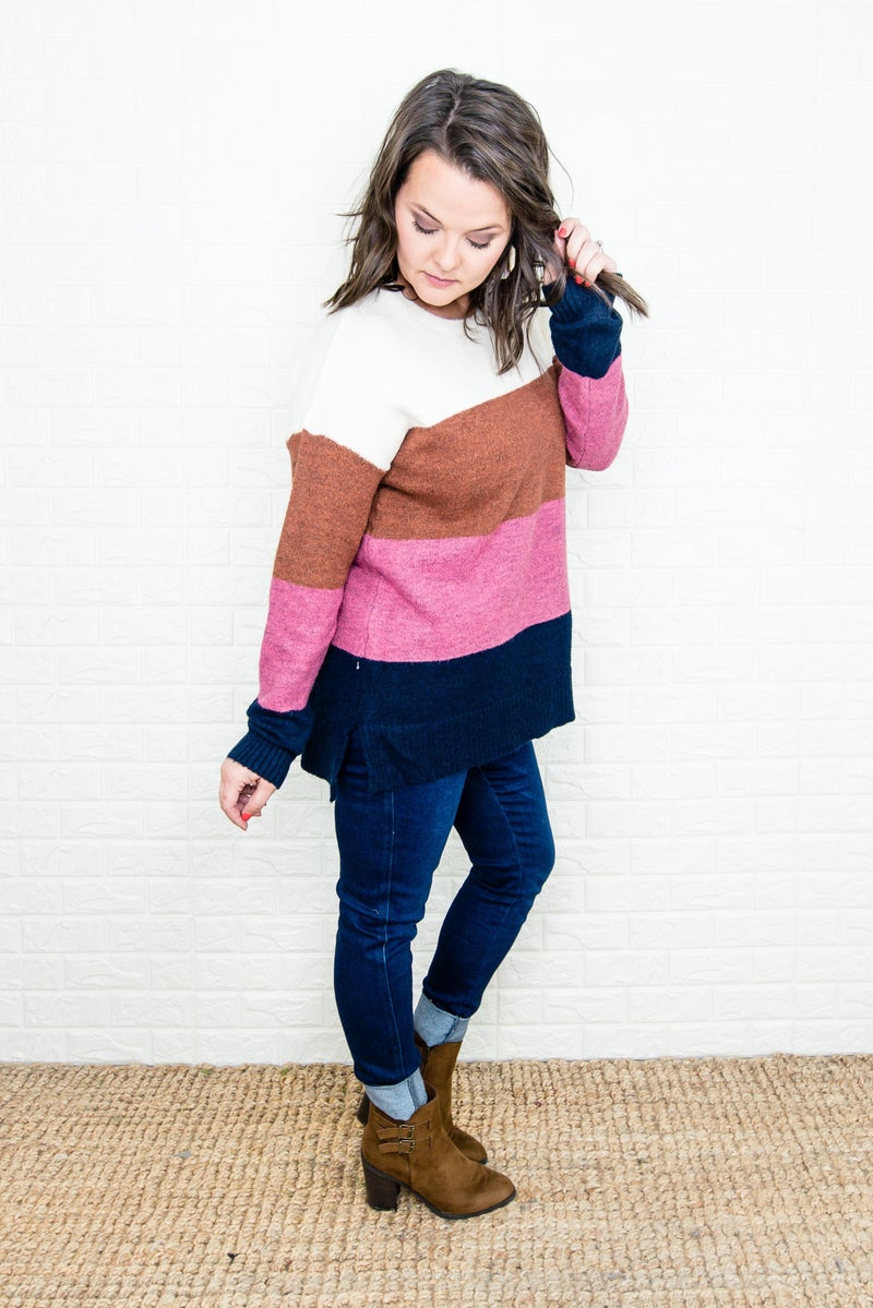 Staccato Chunky Stripes Sweater