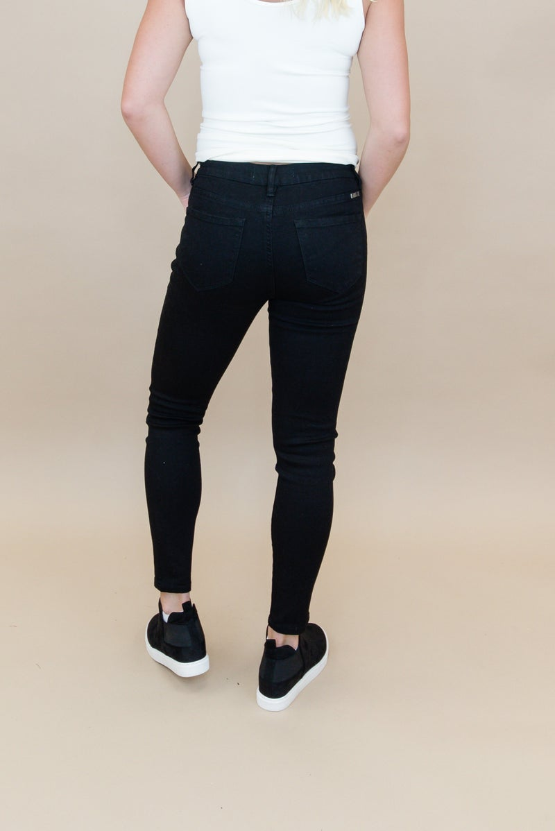 KanCan Mid Rise Black Denim