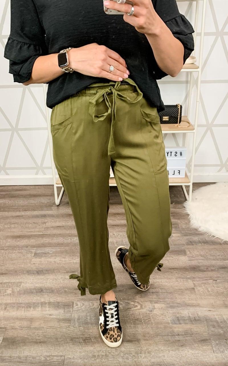 Cute & Simple Olive Pants