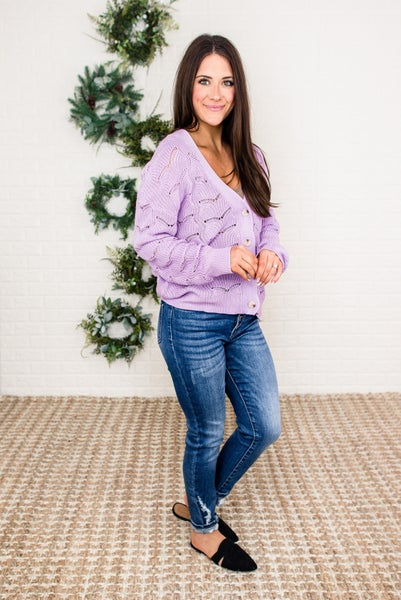 Trendy Lavender Sweater