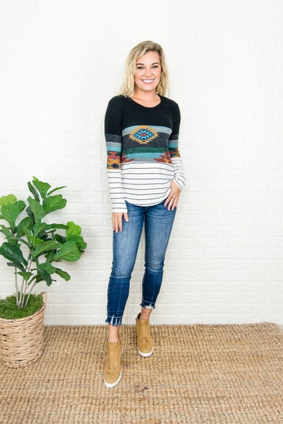 Muted Aztec Tee