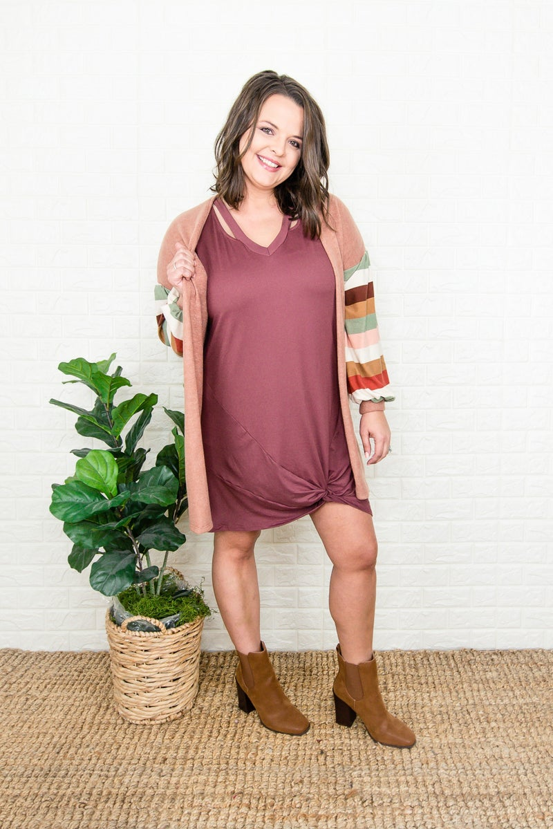 Rust Swish Dress