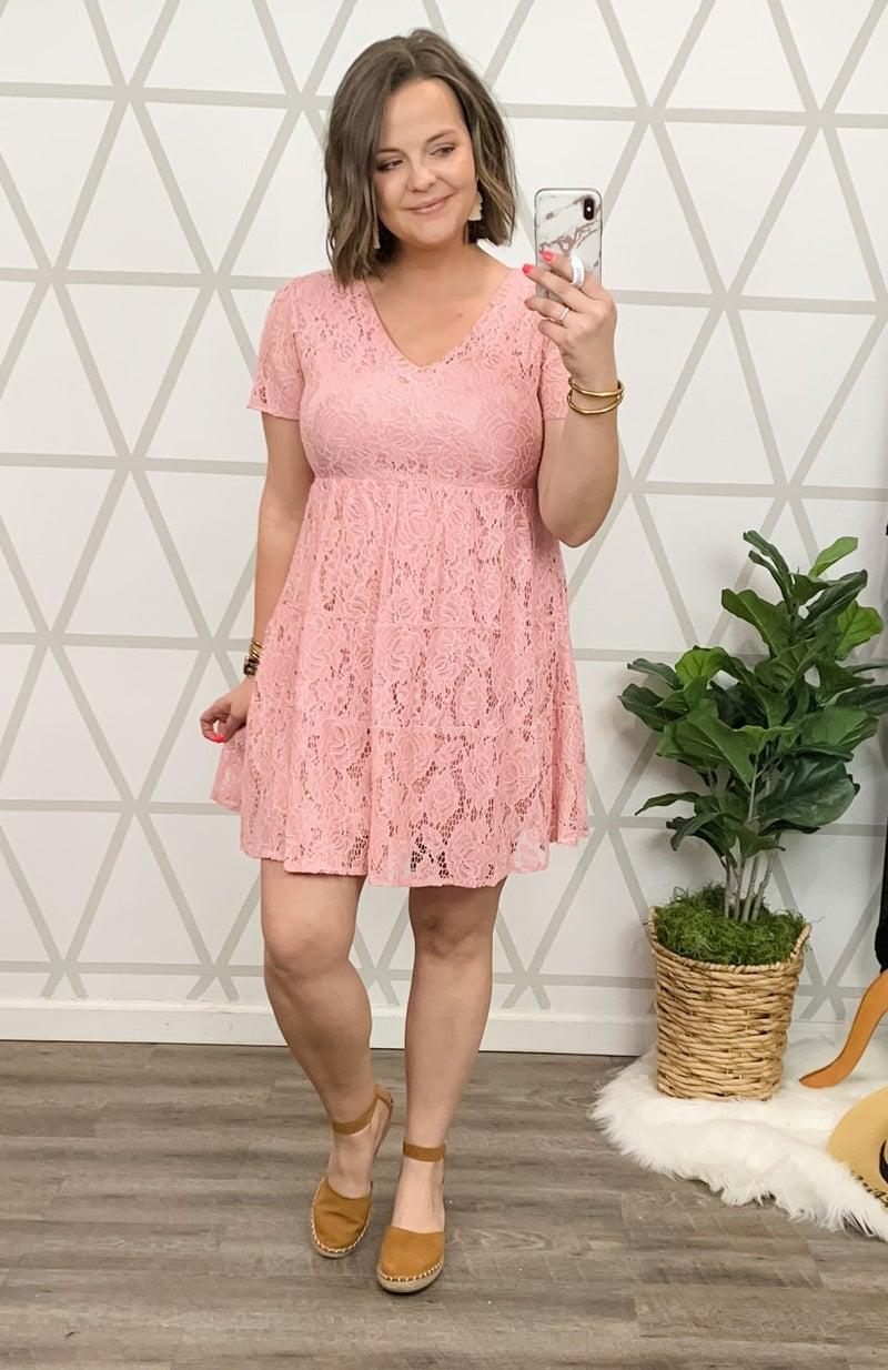 Mauve Lace Dress *all sales final*