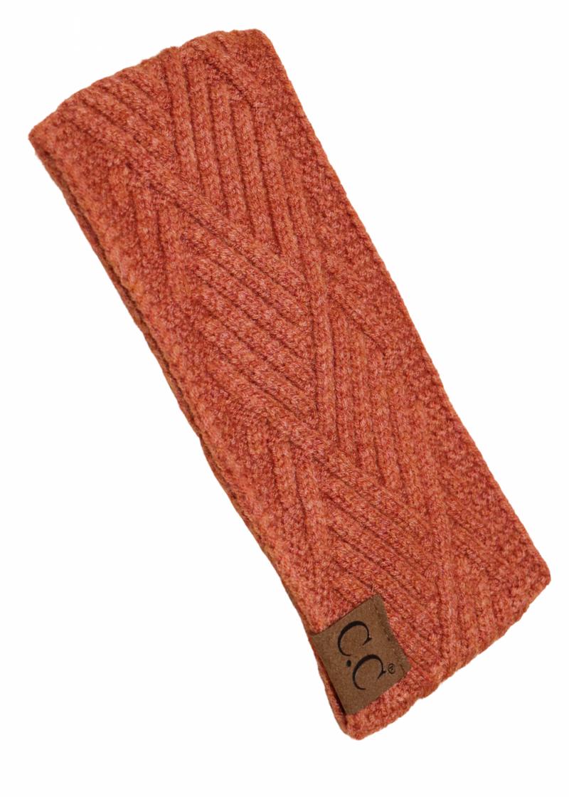 CC Diagonal Headband Rust *Final Sale*