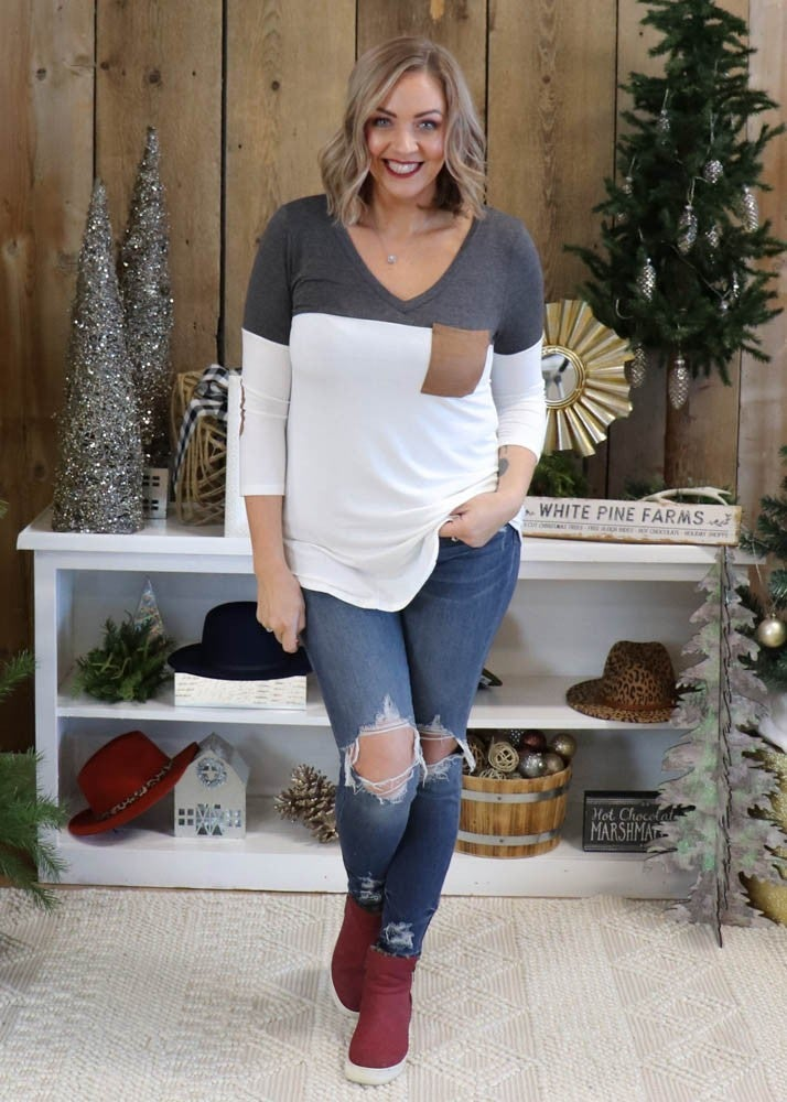 Holiday DEAL - Suede Patch Buttery Tops
