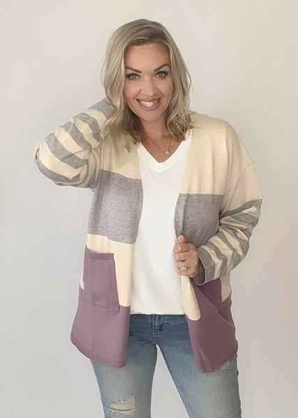All About Me Colorblock Cardi