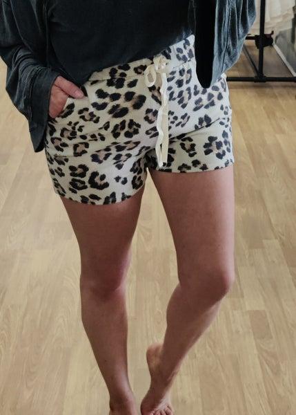 Liam Leopard Print Shorts