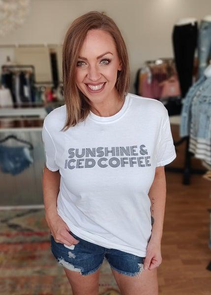 Sunshine & Iced Coffee Graphic Tee