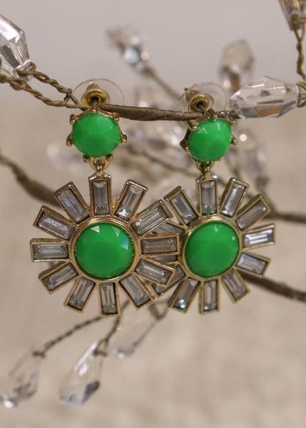 Green & Gold Jewel Earring *Final Sale*