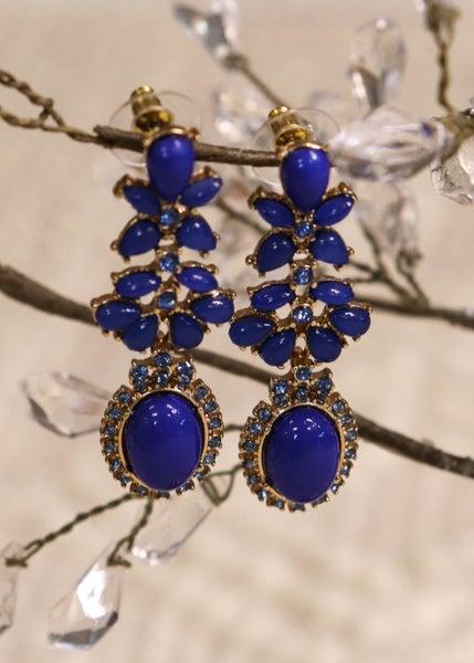 Dazzling Blue & Gold Earring *Final Sale*