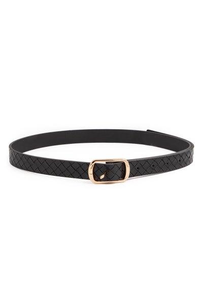 Faux Leather Belt-Black