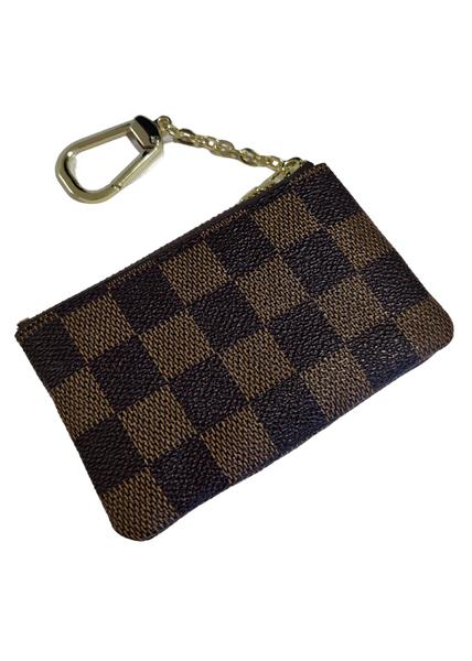 Checkered Pouch Keychain