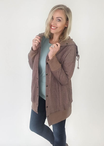 Lucy Mocha Button Jacket