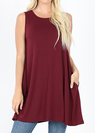 *STEAL DEAL* Trudy Tunic - Wine