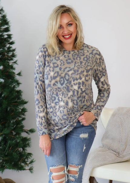 DOORBUSTER: Animal Print Cashmere Top *Final Sale*