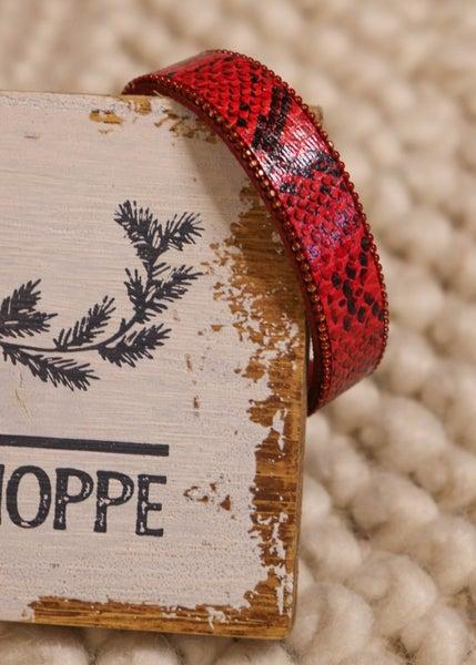 Macie Red Snake Red Magnetic Bracelet