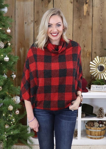 Mason Buffalo Plaid Poncho