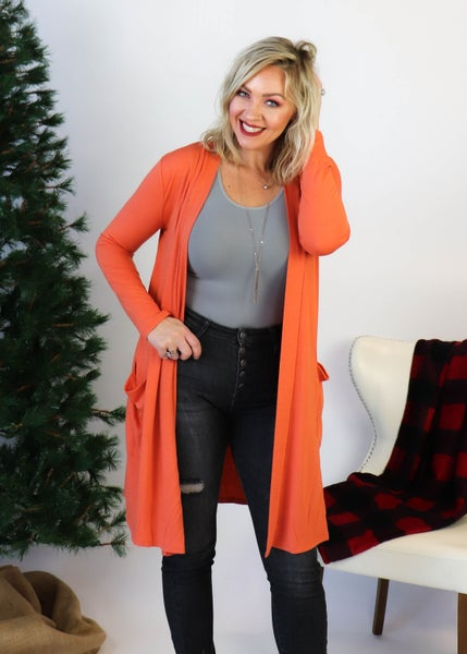 DOOR BUSTER:Copper Long Sleeve Cardigan *Final Sale*