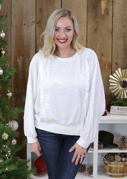 Ella Ivory Detail Top