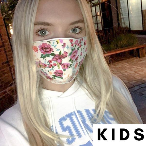 Kids/Toddler, Cream Floral Mask *Final Sale*