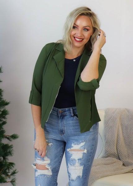 Crop Jacket: Olive