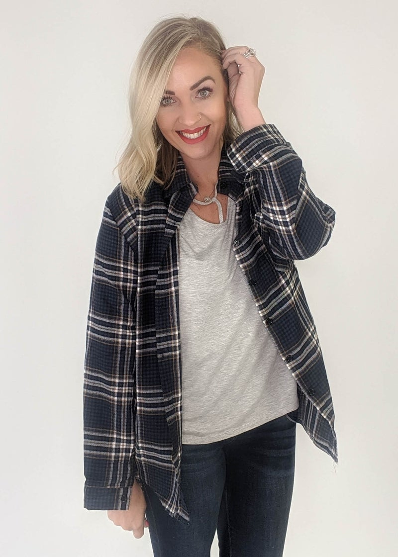 Back Country Road Navy Plaid