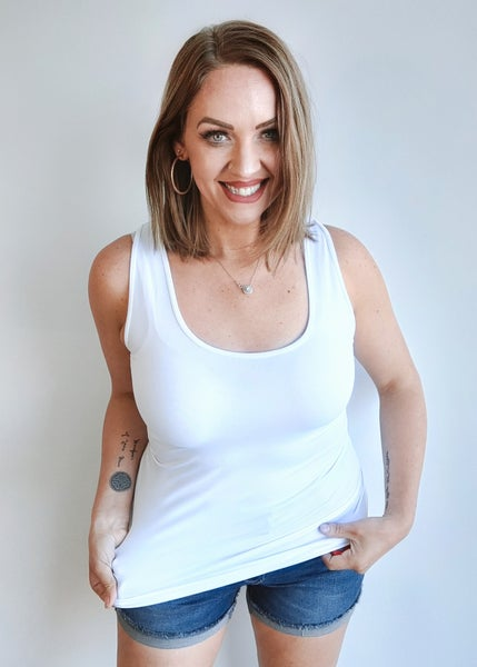 Gina Shaper Tank - Ivory