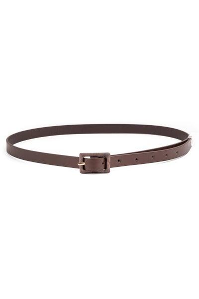 Textured Fashion Belt-Dark Chestnut