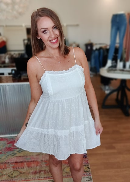 Ivory Swiss Dot Dress
