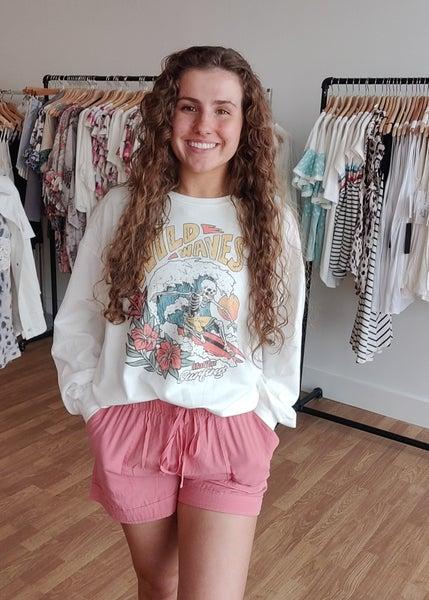 Linen Shorts-Blush