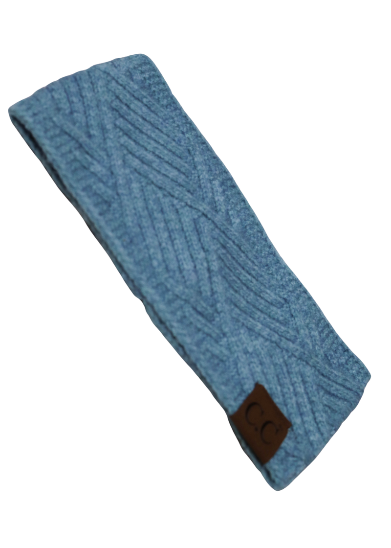 CC Diagonal Headband Blue *Final Sale*