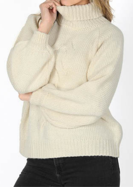 DOORBUSTER - Cream Crop Cableknit *Final Sale*