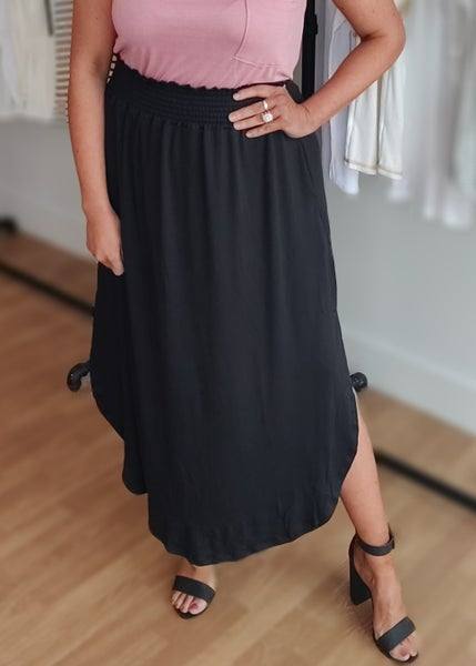 Maxi Skirt-Black