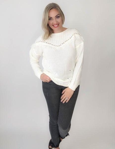 Forever Fringe Sweater