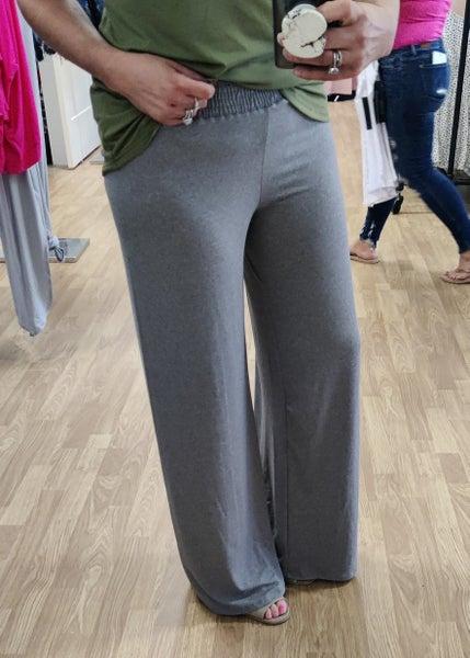 Heather Grey Goucho Pants