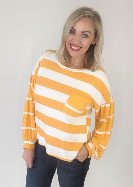 Today Is Your Day Mustard Stripe