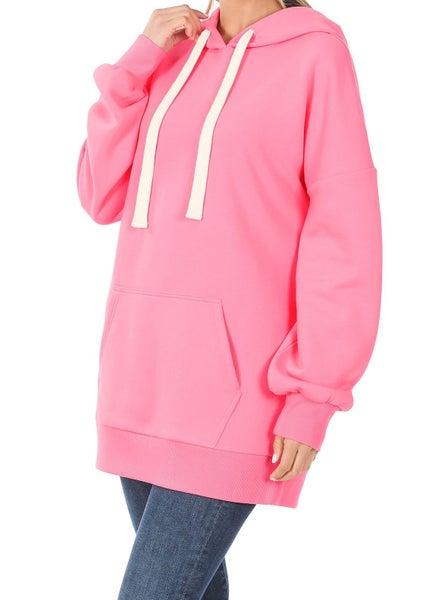 *Steal Deal* Maddie Basic Hoodie- Bright Pink