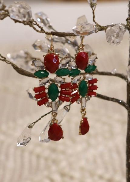 Red & Green Firefly Earring *Final Sale*