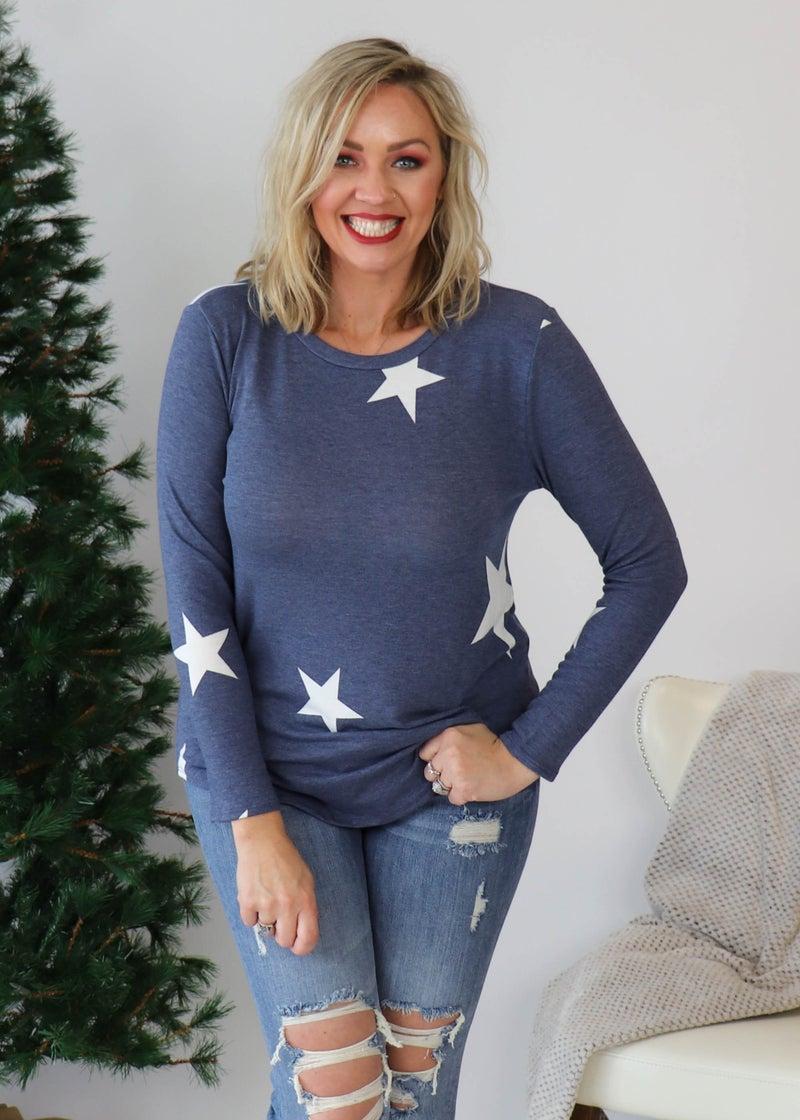 DOORBUSTER: Liberty Blue Star Top *Final Sale*