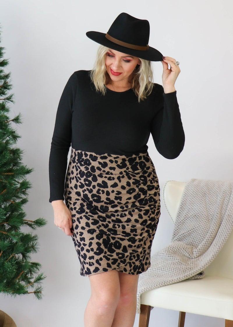 Animal Print Bodycon Dress *Final Sale*