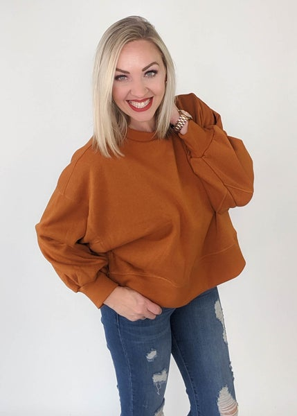 Butterscotch Cropped Sweater