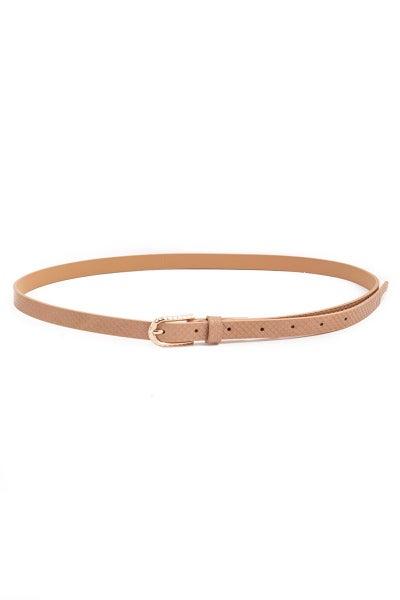 Textured Fashion Belt-Tan