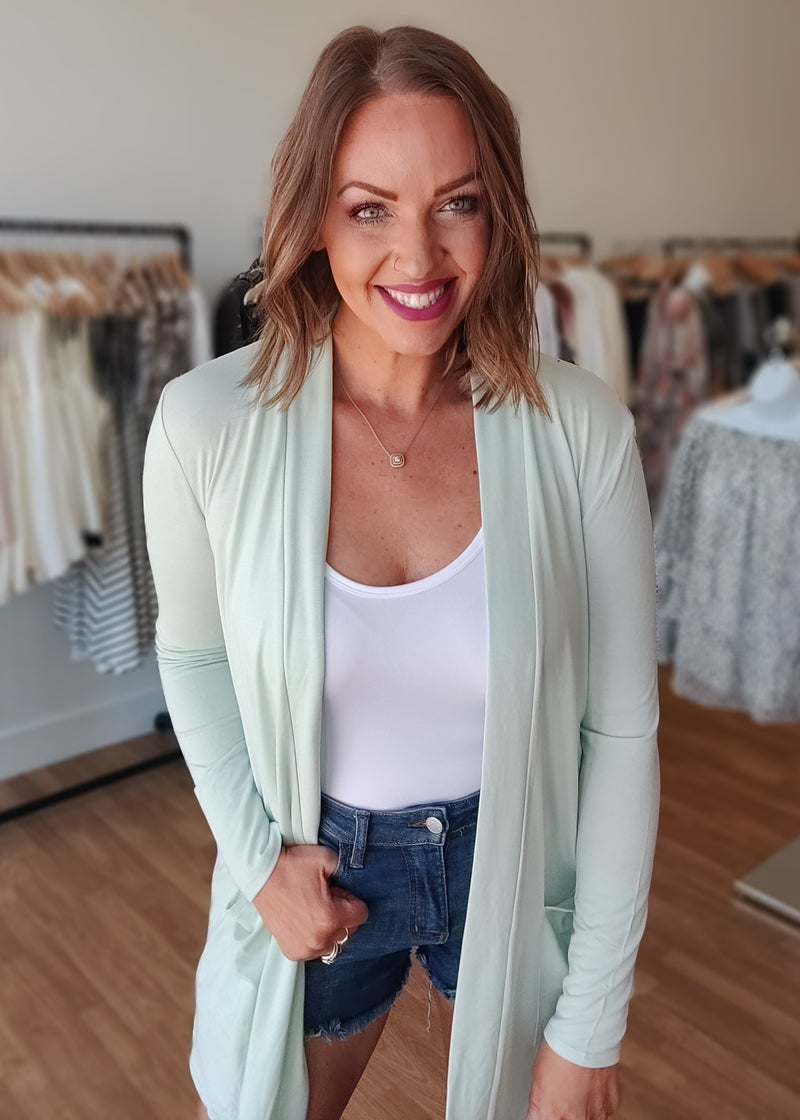 *Steal Deal* The Perfect Cardi- Light Mint