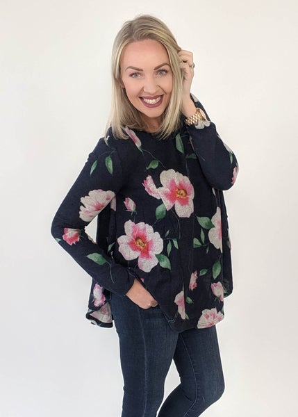 Daily Deal: Kylie Navy Floral Top