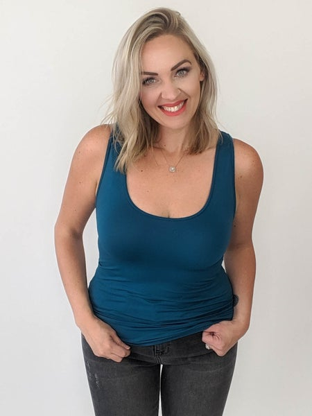 Gina Shaper Tank - Teal