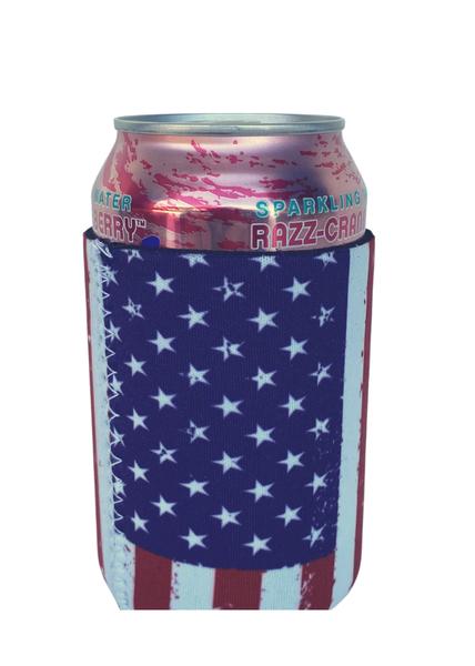 American Flag Can Koozie- Regular